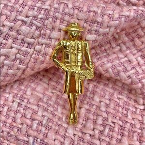 Authentic Chanel Coco Mademoiselle Figure Pin